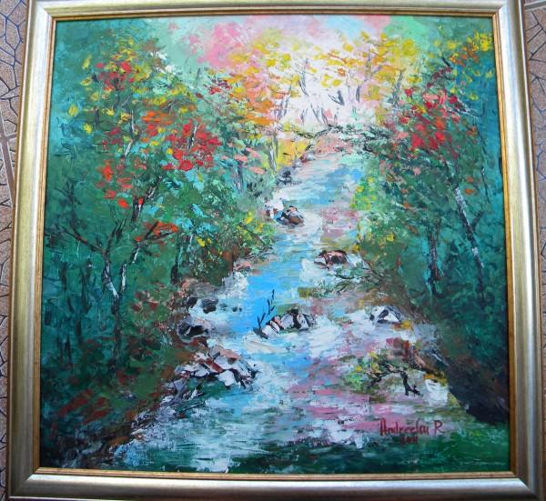 Picturi cu peisaje Rau de lumina