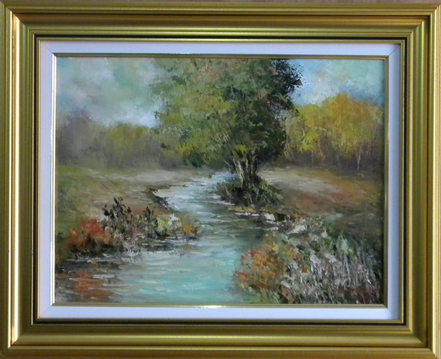 Picturi cu peisaje RAUL DIN PADUREA TOAMNEI