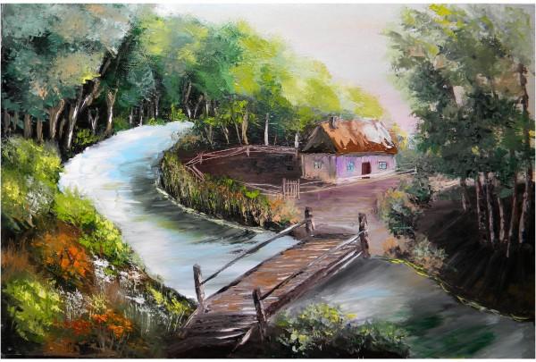 Picturi cu peisaje Stana din padure