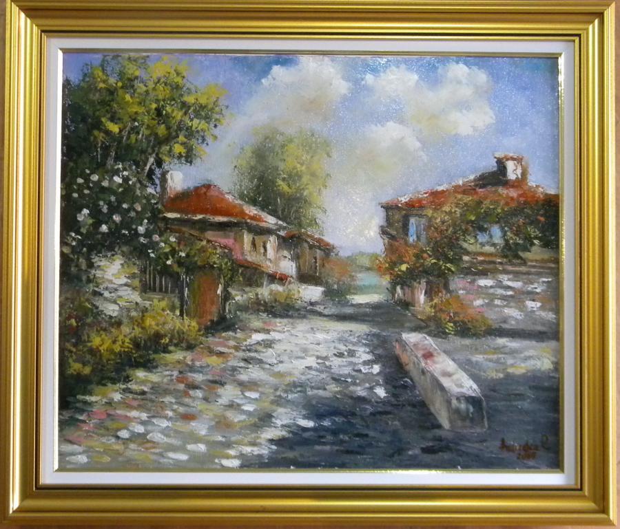 Picturi cu peisaje VARA CU CASE