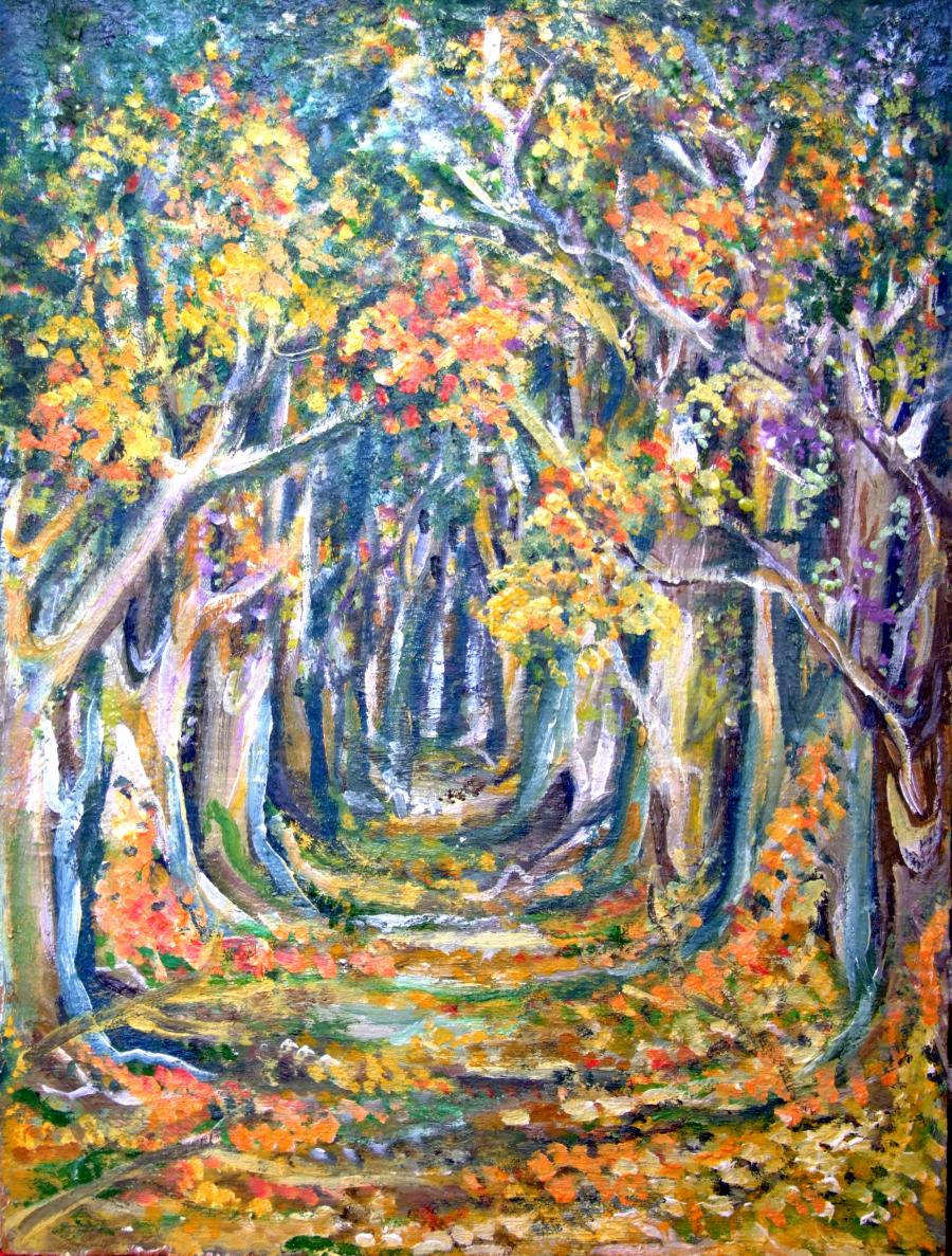 Picturi cu peisaje Padurea vrajita