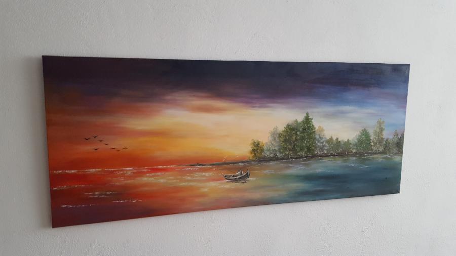 Picturi cu peisaje Micul pescar