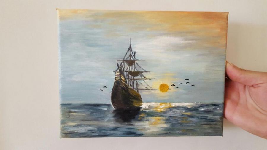 Picturi cu peisaje Vaporul