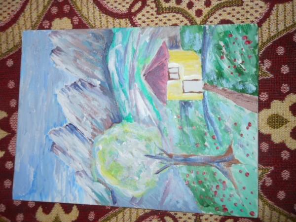 Picturi cu peisaje Casa singuratica
