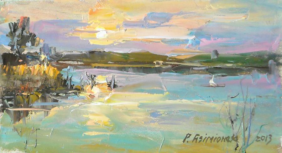 Picturi cu peisaje Apus de soare-2