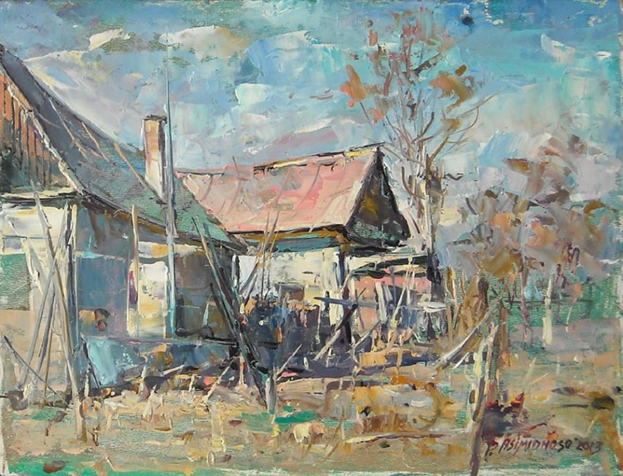 Picturi cu peisaje Casuta taraneasca, Dej