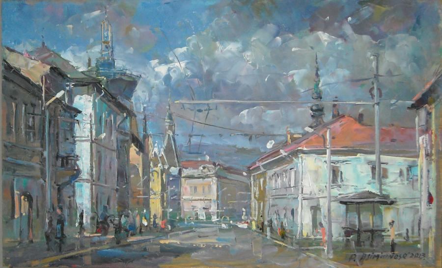 Picturi cu peisaje Str. Regele Ferdinand, Cluj-Napoca