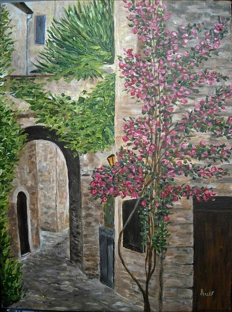 Picturi cu peisaje Straduta in Franta