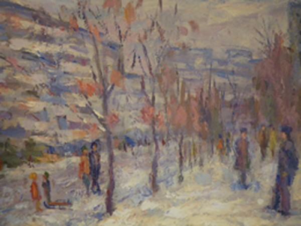 Picturi cu peisaje 3. peisaj de iarna