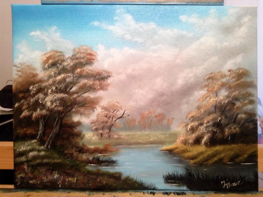 Picturi cu peisaje Lacul din crang