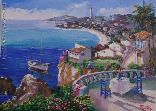 Picturi cu peisaje Coasta mediterana