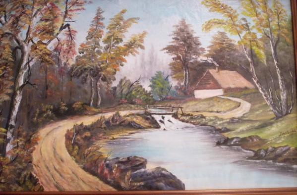 Picturi cu peisaje Toamna la padure