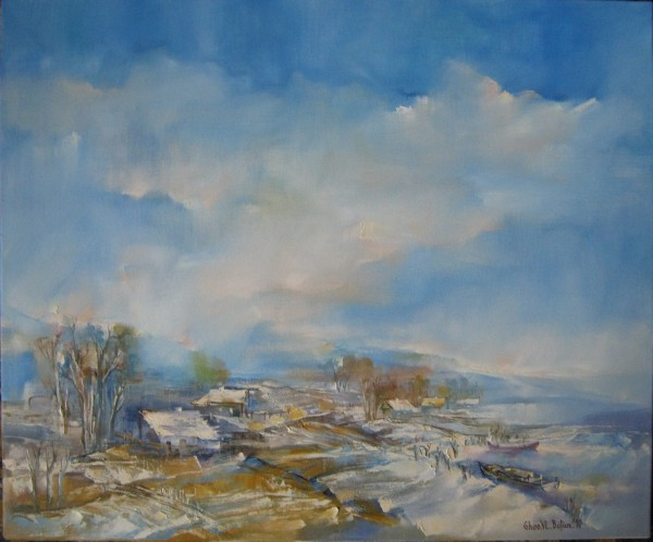 Picturi cu peisaje Peisaj-delta iarna-uleipinza