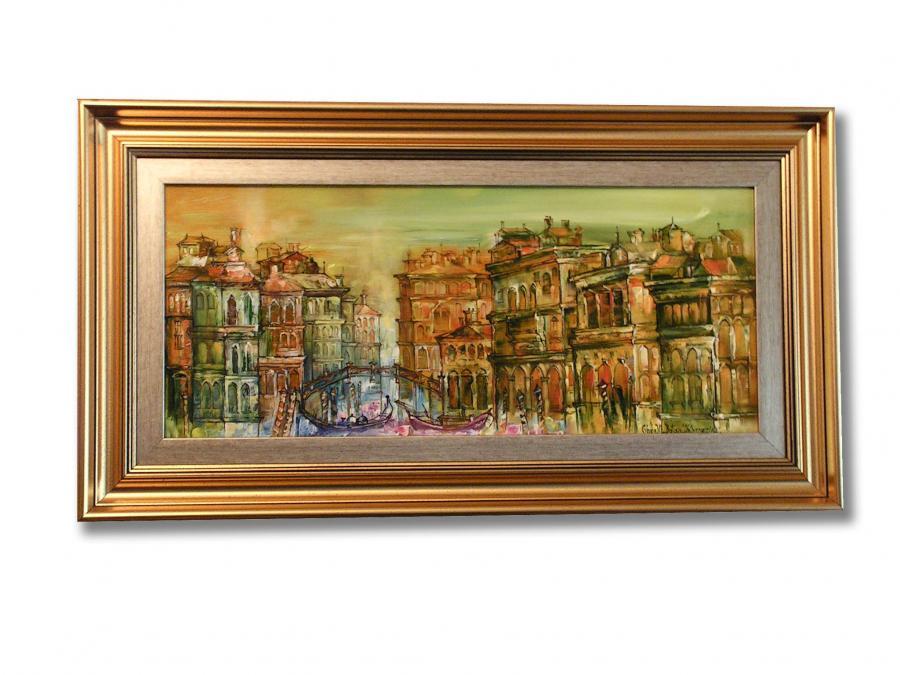 Picturi cu peisaje Peisaj din Venetia Canale