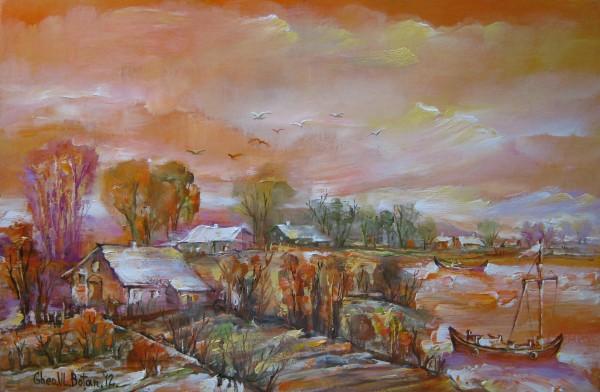 Picturi cu peisaje Peisaj la dunavat