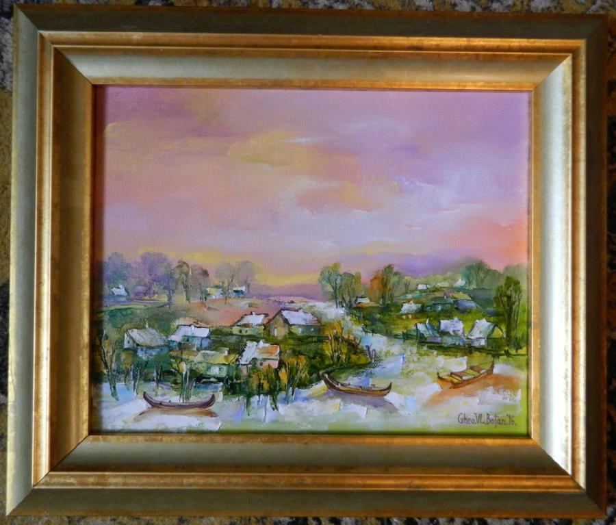 Picturi cu peisaje ''Primavara la Dunavat''