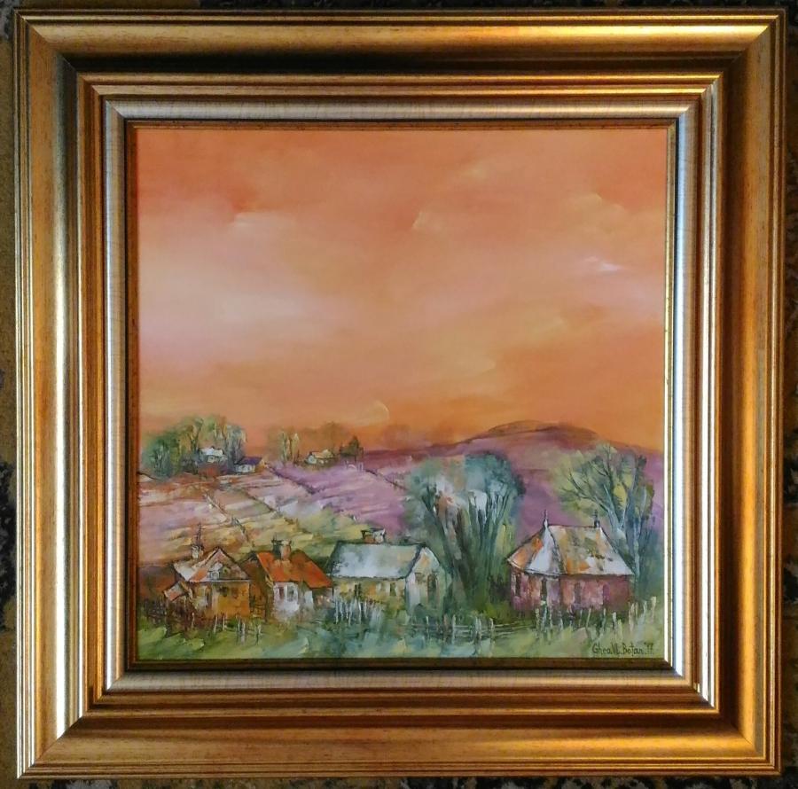Picturi cu peisaje ''Toamna in Sat''