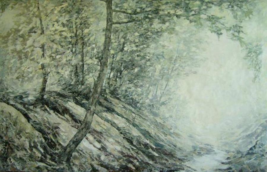 Picturi cu peisaje Dimineata pe vale