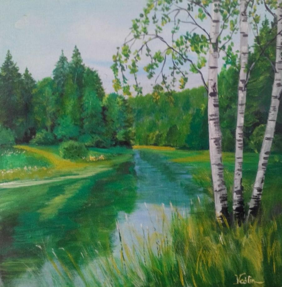 Picturi cu peisaje rau de munte