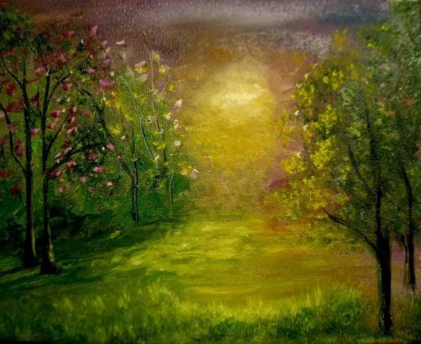 Picturi cu peisaje Culorile noptii