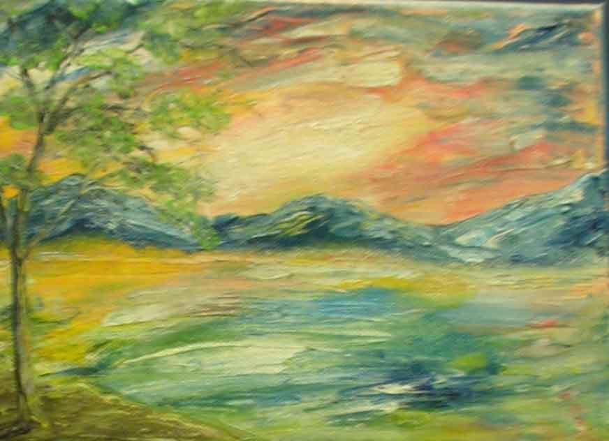 Picturi cu peisaje furtuna in soare