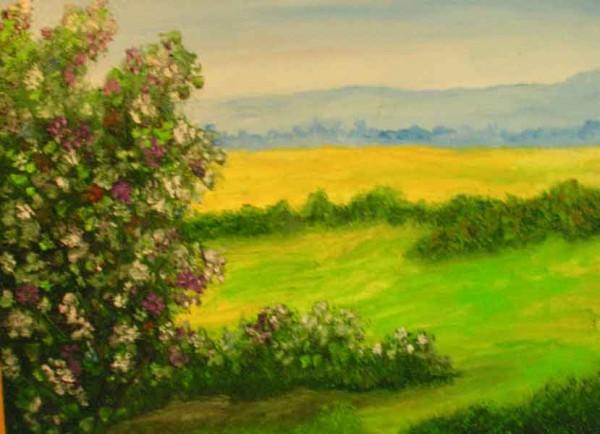 Picturi cu peisaje La umbra verii
