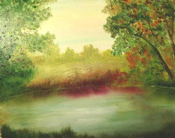 Picturi cu peisaje Linistea diminetii