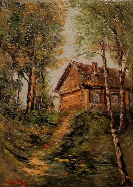 Picturi cu peisaje Casa din deal