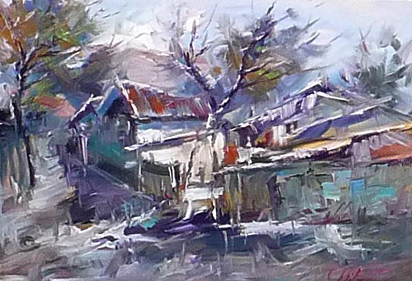 Picturi cu peisaje PEISAJ IARNA 03