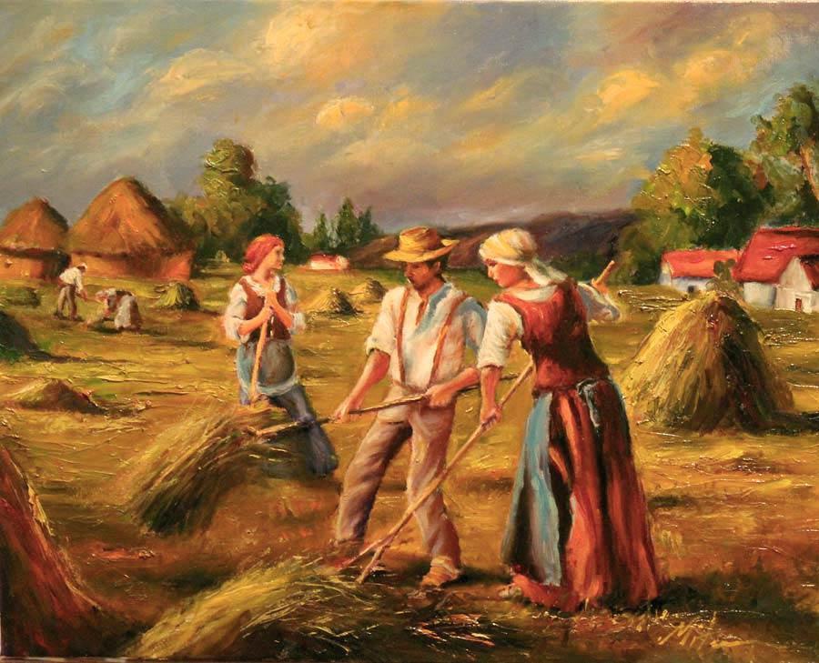 Picturi cu peisaje Scena gen 34