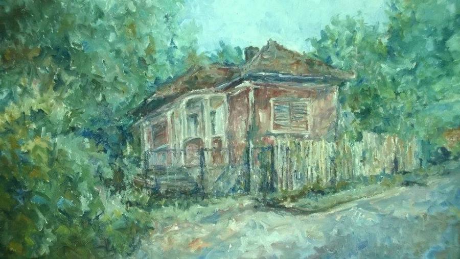 Picturi cu peisaje Casa veche 1