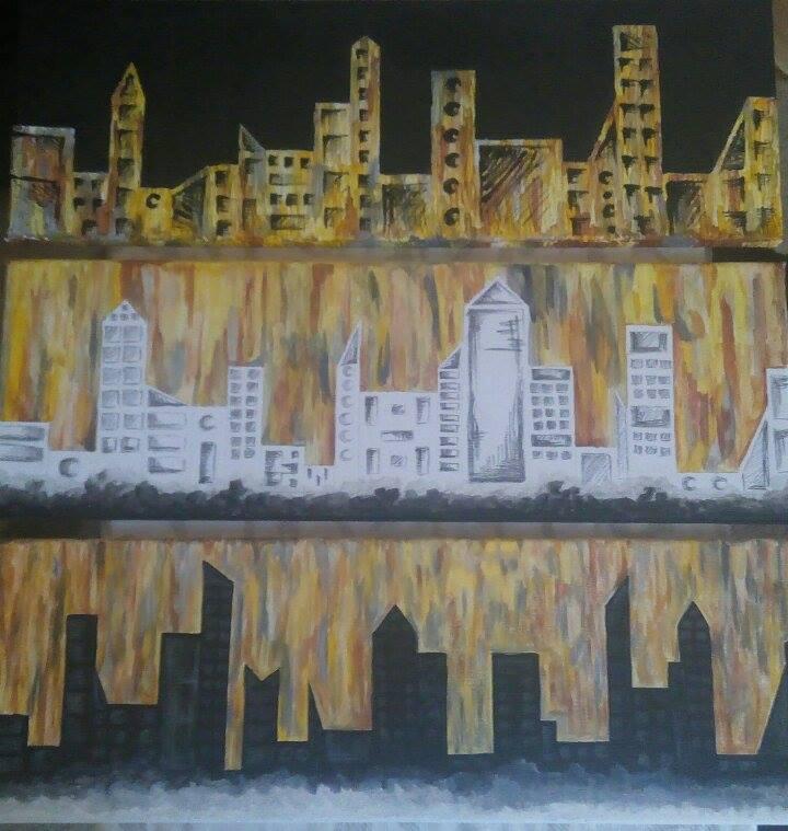 Picturi cu peisaje Oras Contemporan