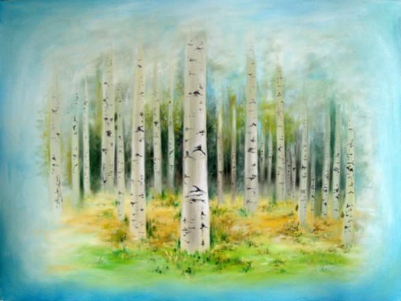 Picturi cu peisaje Padure in vis