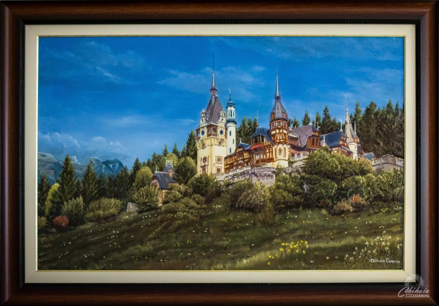 Picturi cu peisaje Castelul Peles la 150 de ani de monarhie