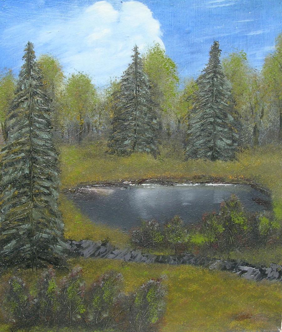 Picturi cu peisaje Ochiul de apa
