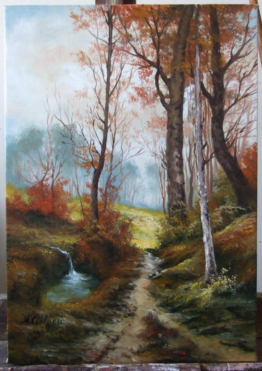 Picturi cu peisaje  Dupa ploaie.