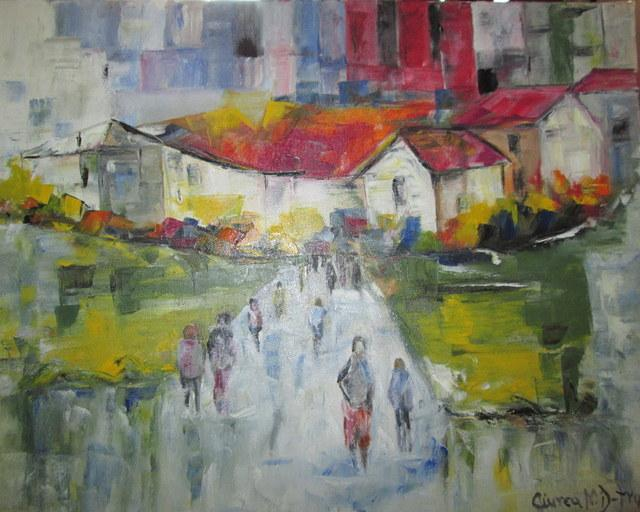 Picturi cu peisaje Dimineata spre serviciu