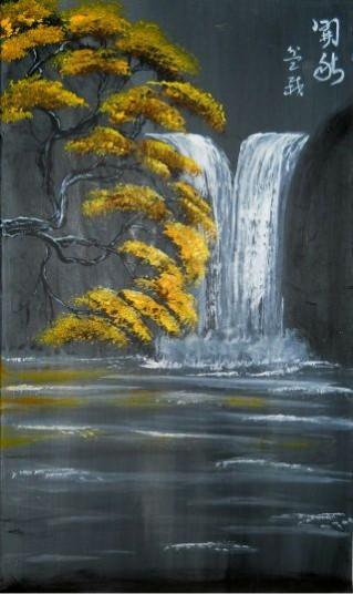 Picturi cu peisaje Bonsai - autumn beginning
