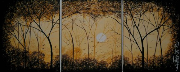 Picturi cu peisaje Forgive and forget  mizu ni nagasu