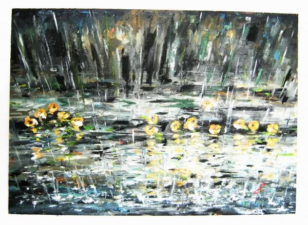Picturi cu peisaje Ploaie de vara