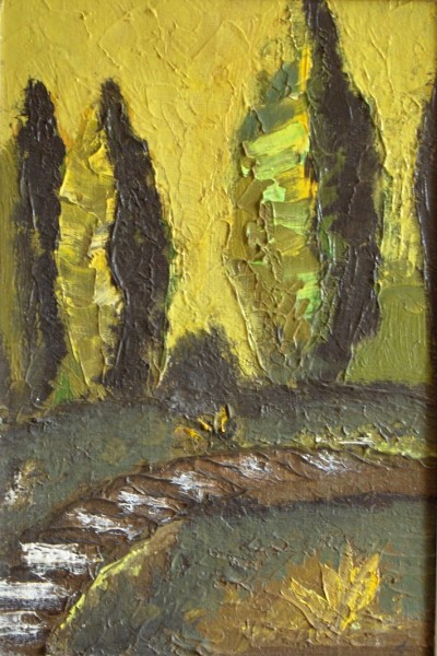 Picturi cu peisaje Plopi