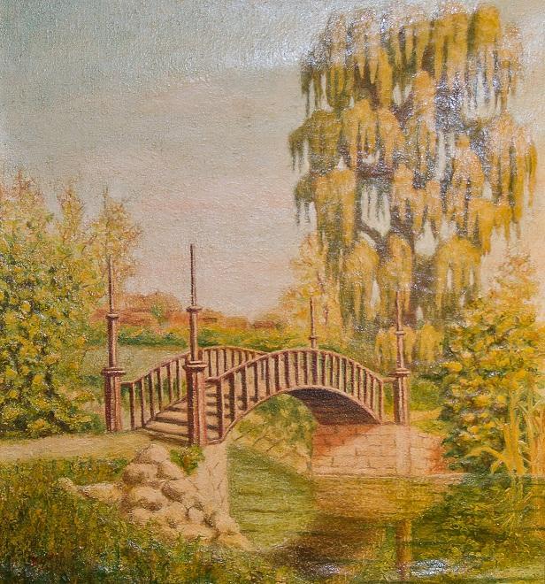 Picturi cu peisaje Parcul Palatului Marghiloman din Buzau