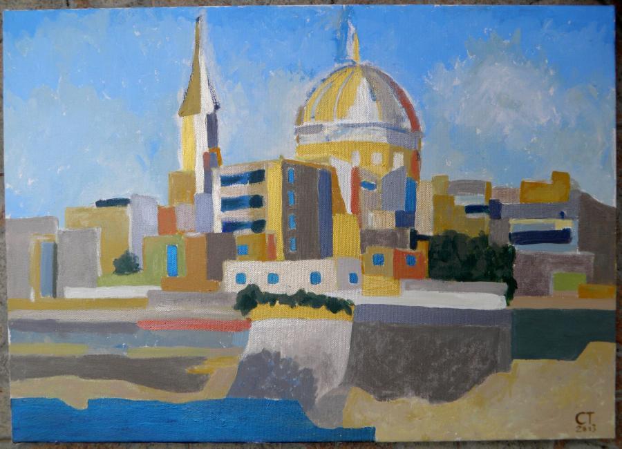 Picturi cu peisaje Geometria Vallettei