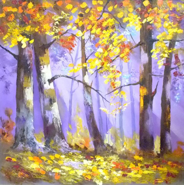Picturi cu peisaje PADURE STRANIE
