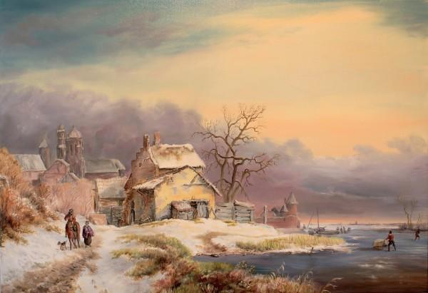 Picturi cu peisaje Winter