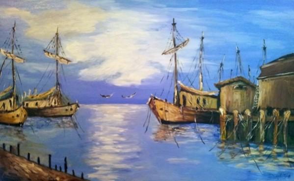 Picturi cu peisaje Port