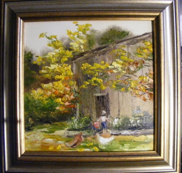 Picturi cu peisaje Ajutor la ferma