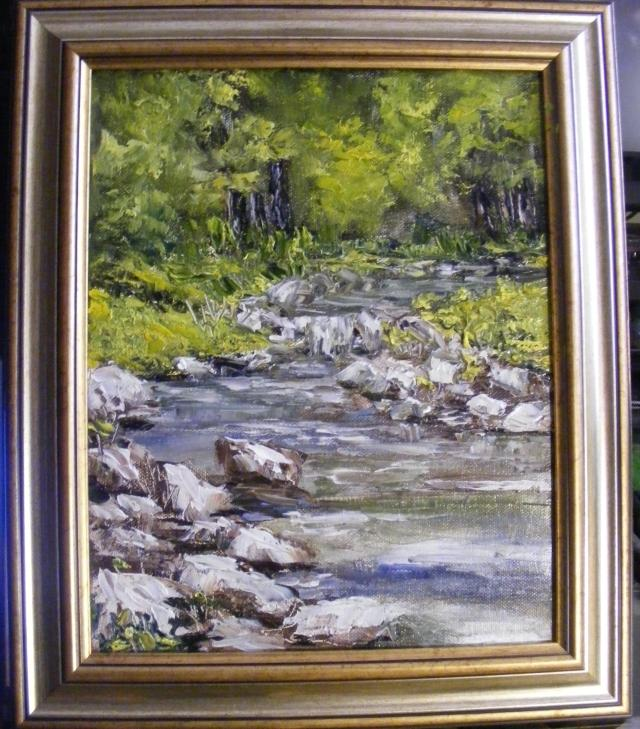 Picturi cu peisaje Apa trece