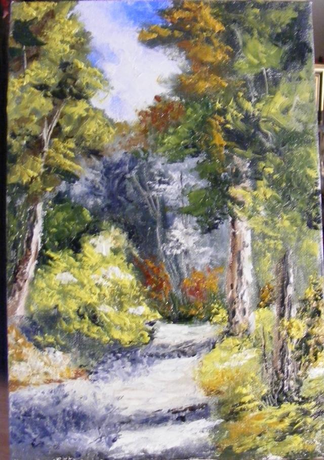 Picturi cu peisaje Carare serpuind in soare