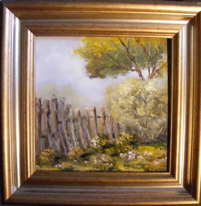 Picturi cu peisaje Gard inflorit